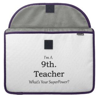 9th. Grade Teacher Sleeve For MacBook Pro