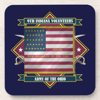 9th Indiana Infantry Drink Coaster