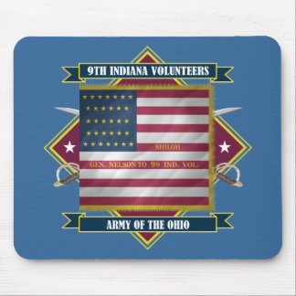 9th Indiana Infantry Mouse Pad