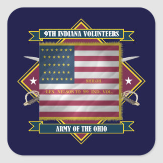 9th Indiana Infantry Square Sticker