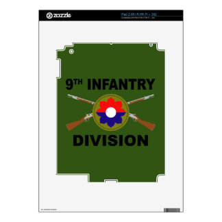 9th Infantry Division - Crossed Rifles - With Text iPad 2 Skin