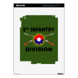 9th Infantry Division - Crossed Rifles - With Text Skins For iPad 3