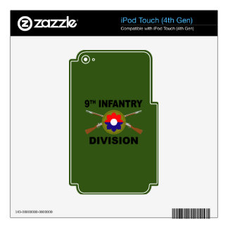 9th Infantry Division - Crossed Rifles - With Text Skins For iPod Touch 4G