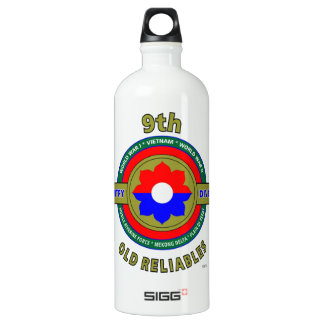 """9TH INFANTRY DIVISION """"OLD RELIABLES"""" ALUMINUM WATER BOTTLE"""