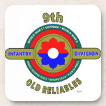 """9TH INFANTRY DIVISION """"OLD RELIABLES"""" BEVERAGE COASTERS"""