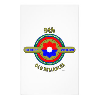 """9TH INFANTRY DIVISION """"OLD RELIABLES"""" STATIONERY"""