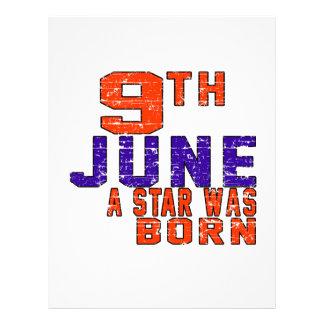 9th June a star was born Custom Letterhead