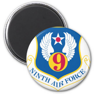 9th U S Air Force 2 Inch Round Magnet