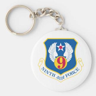 9th U S Air Force Basic Round Button Keychain