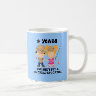 9th Wedding Anniversary Gift For Him Coffee Mug