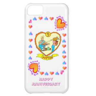 9th wedding anniversary, pottery cover for iPhone 5C