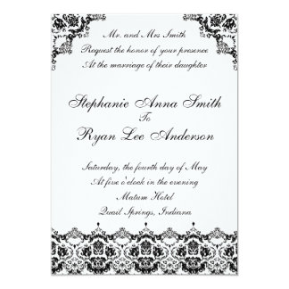 9X6FLAT-BLACK, Mr. and Mrs SmithRequest the hon... 5x7 Paper Invitation Card