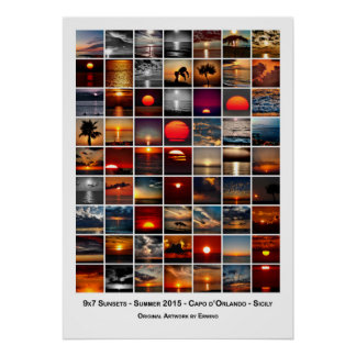 9x7 Sunsets Poster
