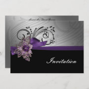 Purple wedding invites by mgdezigns