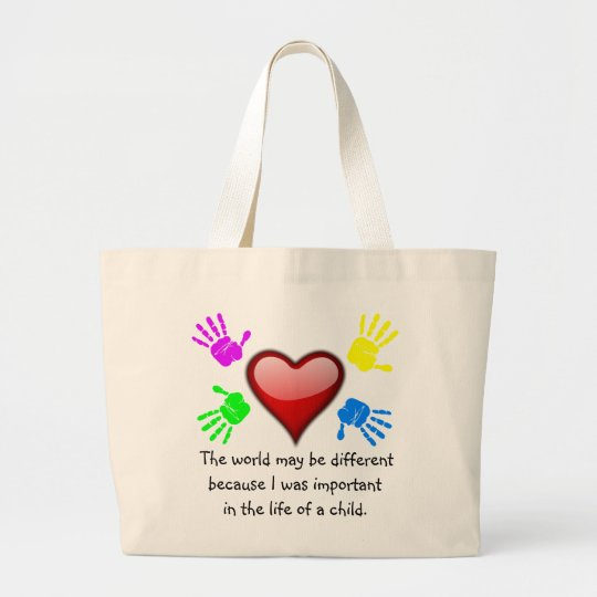 A0001. I Made a Difference in the Life.Bag.2 Large Tote Bag