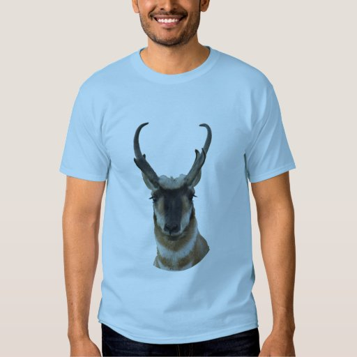 A0019 Pronghorn Antelope head T-shirts