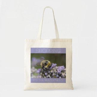 A001-30: El hacer compras: Rodillas de las abejas: Bolsa Tela Barata
