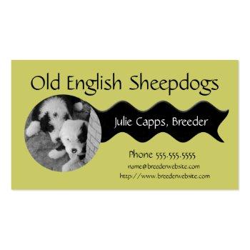 A001 BIZ - Old English Sheepdog black ribbon Business Card