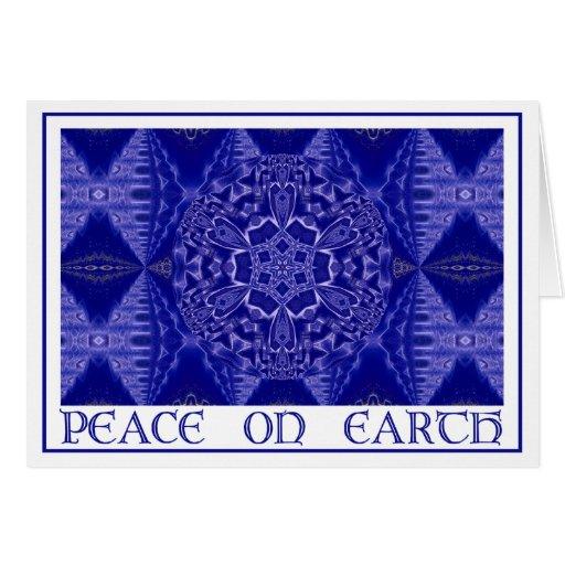 A001 copo de nieve Mandala.Blue.Card 1 Tarjeta De Felicitación
