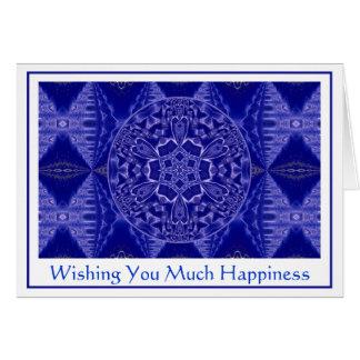 A001 copo de nieve Mandala.Blue.Customizable.Card  Tarjeta De Felicitación