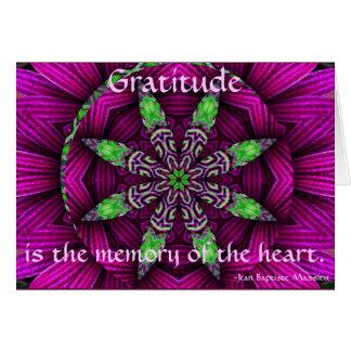 A001-Gratitude Floral Kaleidoscopic Mandala Card.1 Card