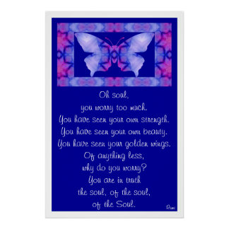 A001 Oh Soul - Butterfly Print with White Border.1