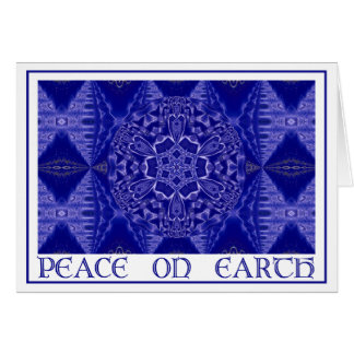 A001 Snowflake Mandala.Blue.Card 1 Card