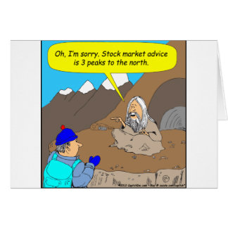 A004 Guru stock market cartoon Card