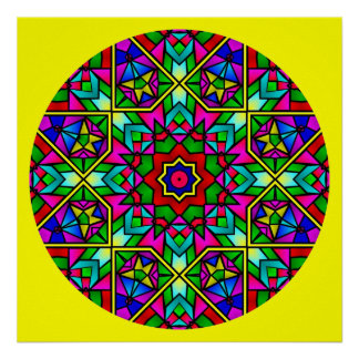 A005 Stained Glass Mandala.Print.3
