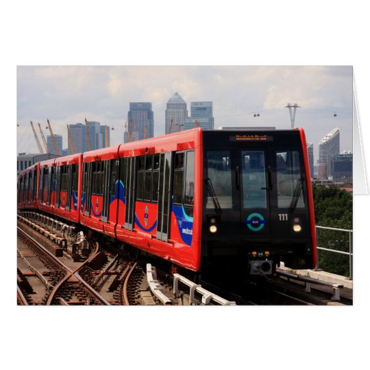 A006_01: London DLR Train to Woolwich Poster Card