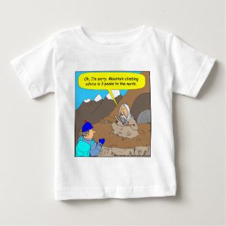 A006 guru mountain climbing advice cartoon baby T-Shirt
