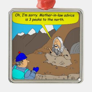A009 guru mother-in-law advice cartoon ornament