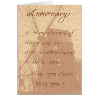 A01: Anniversary.. arememberance and a commitment Card