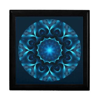 A01. Midnight Blue Mandala Tiled Box.1 Jewelry Box