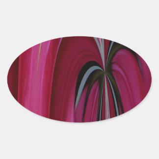 A02 abstracto pegatina ovalada