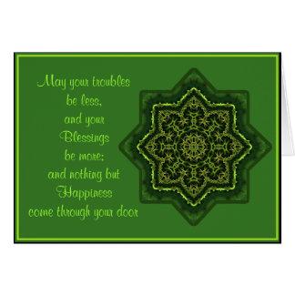 A035 Celtic Mandala Blessing Card.1 Card