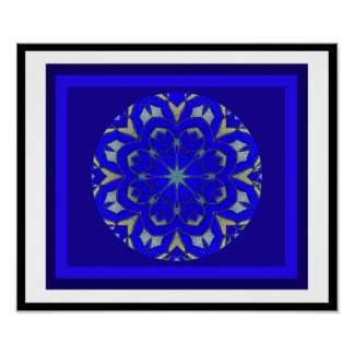 A05 Celtic Knot Kaleidoscopic - Irish Blessing.6 Poster
