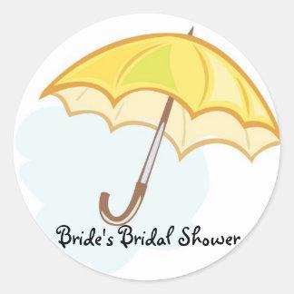 a0731003xa0, Bride's Bridal Shower Round Stickers