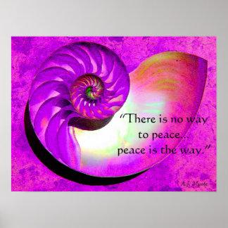 A07 Nautilus Shell Peace Inspiration Poster