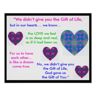 A07b Gift of Life Poster - Version 1.Black Border