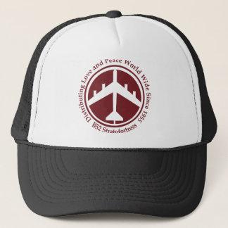 A098 B52 distribiting love burgundy.png Trucker Hat