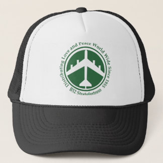 A098 B52 distribiting love dark green.png Trucker Hat