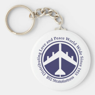 A098 B52 distribiting love navy blue.png Basic Round Button Keychain