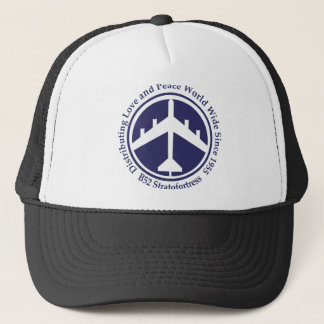 A098 B52 distribiting love navy blue.png Trucker Hat