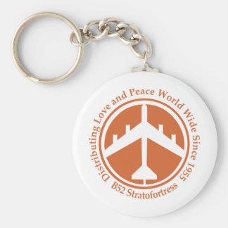 A098 B52 distribiting love orange.png Basic Round Button Keychain