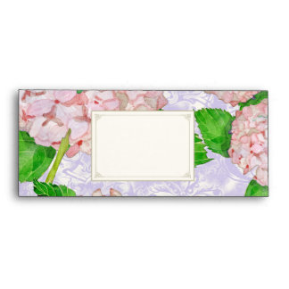 A10 Matching Envelopes Pink Hydrangea Lace Floral