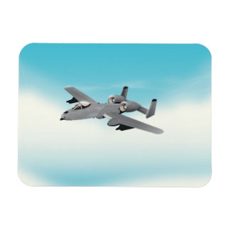 A10 Military Plane Illustration Magnet