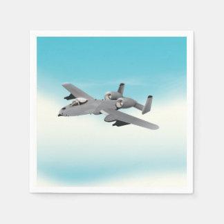 A10 Military Plane Illustration Napkin