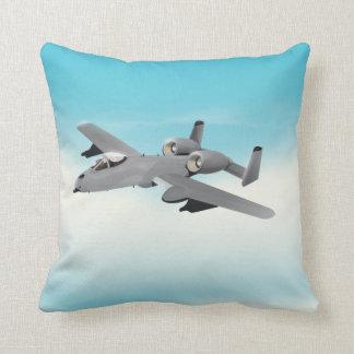 A10 Military Plane Illustration Pillow