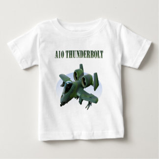 A10 Thunderbolt Green Plane Baby T-Shirt